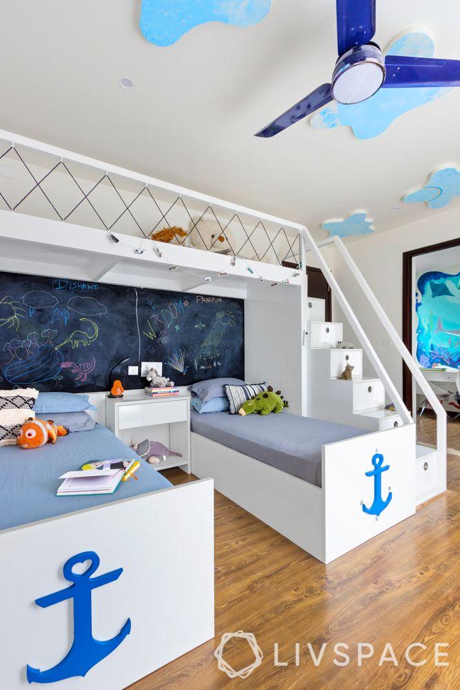kids room design-kids room ceiling-clouds ceiling