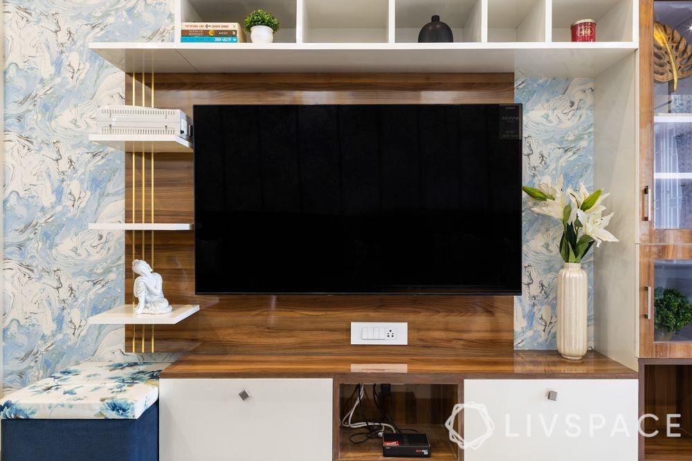 pune interior design-living room-tv unit-laminate finish
