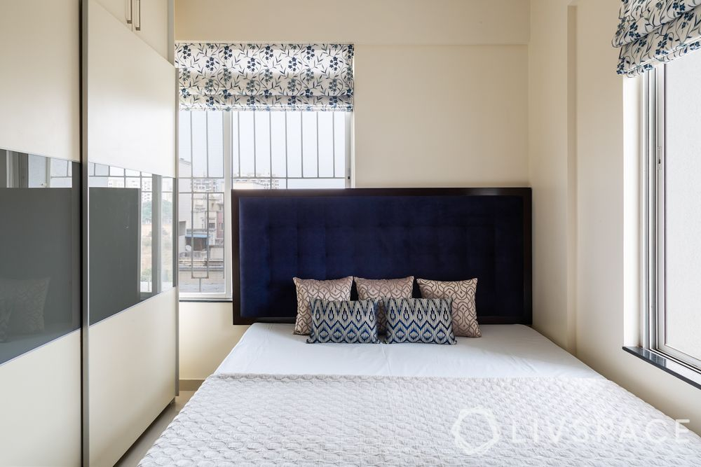 pune interior design-master bedroom-bed