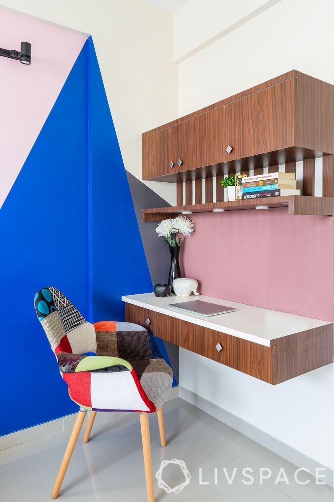 pune interior design-master bedroom-study table