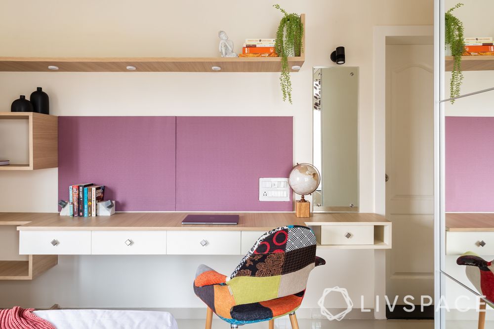 pune interior design-brother bedroom-study table