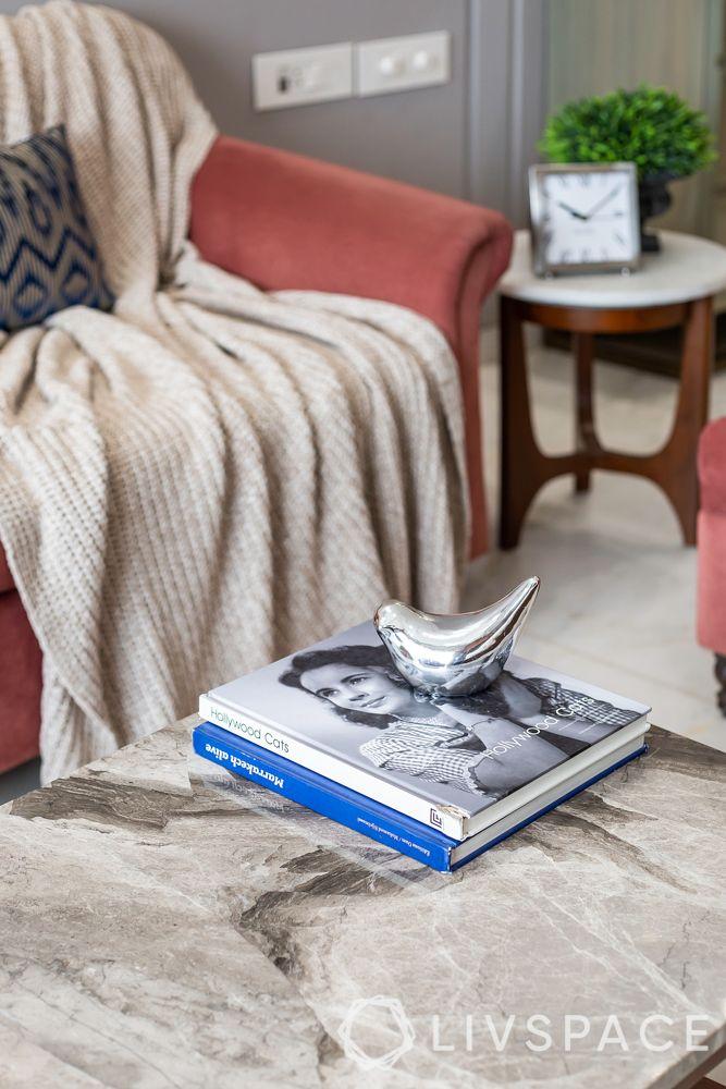 full house interior design-pink sofa-lasa marble