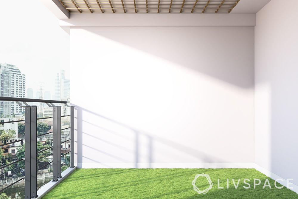 balcony decoration-artificial turf