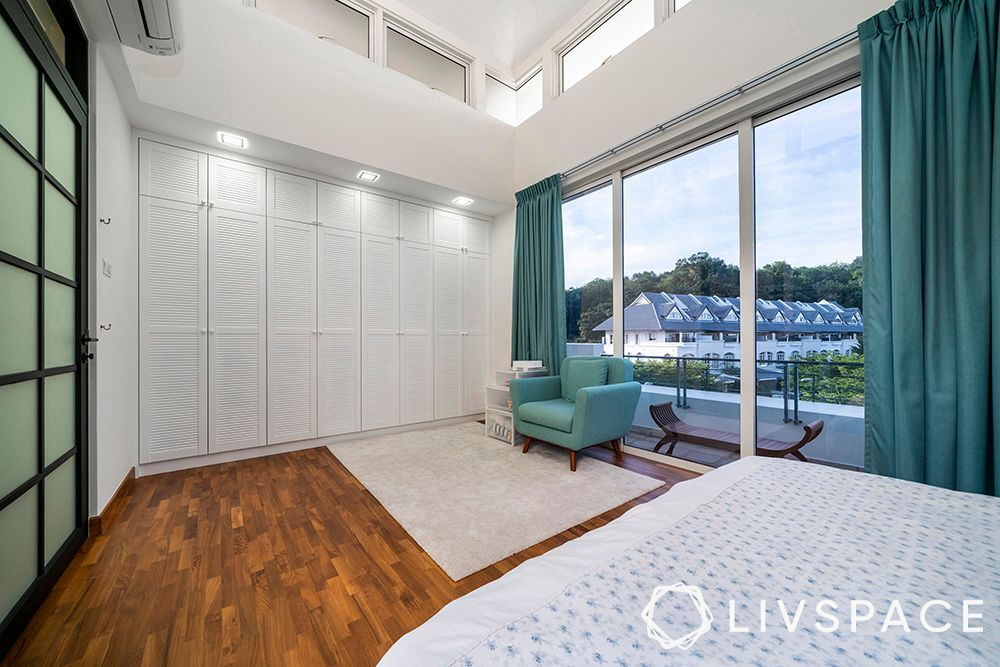 how much does a wardrobe cost-white wardrobe-louvre doors