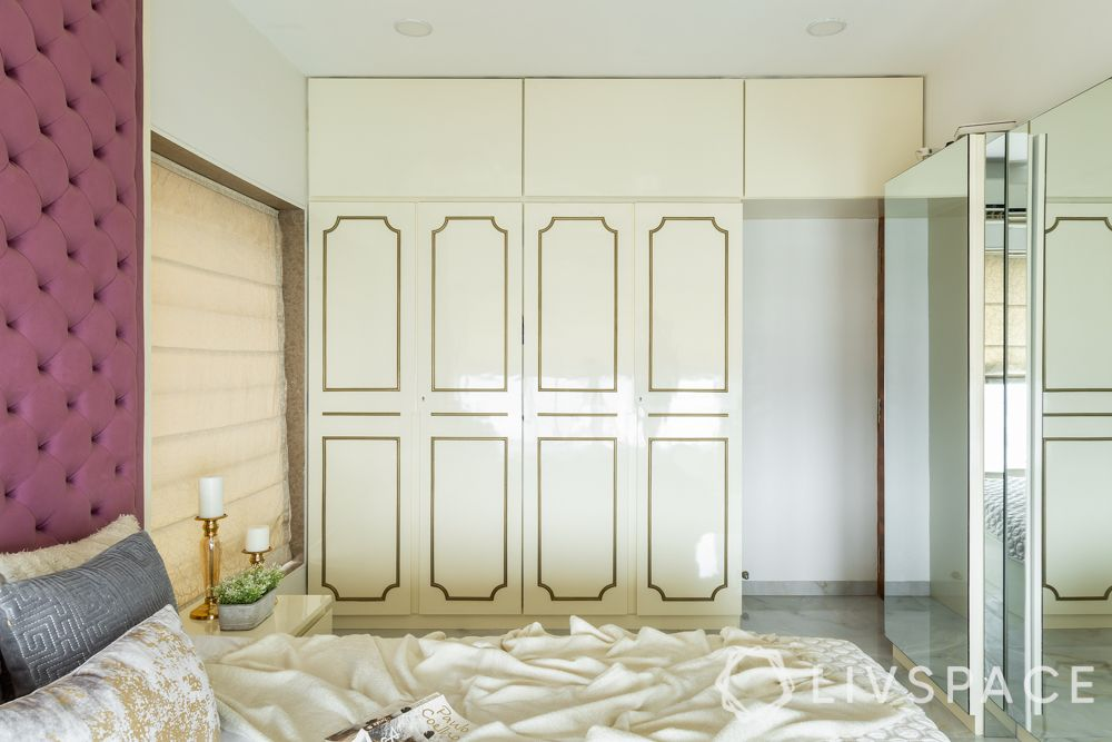 interior design for 2bhk-white wardrobe-custom wardrobe