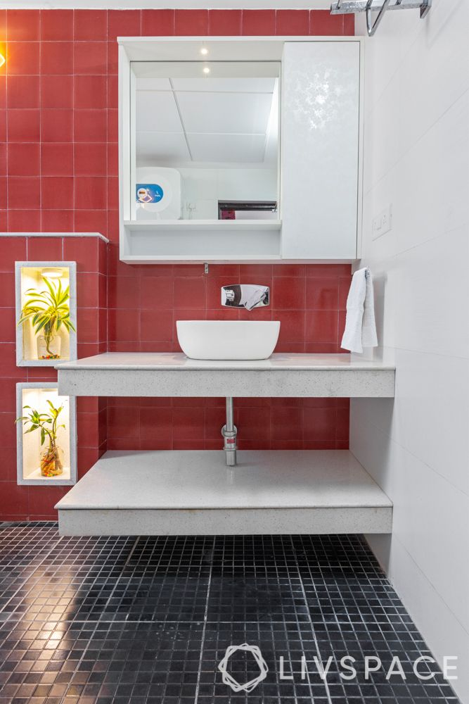 black and red bathroom-mosaic