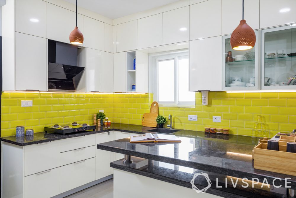 low budget house design-yellow ceramic tiles-lofts-lights