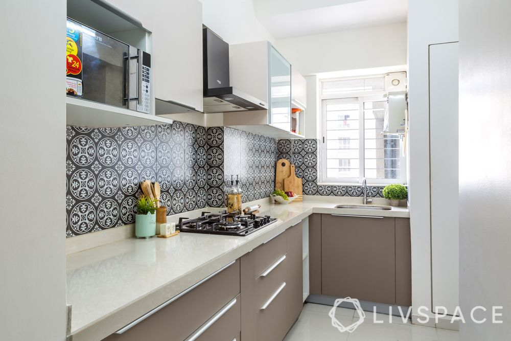 low budget house design-kitchen-quartz countertop-moroccan tiles