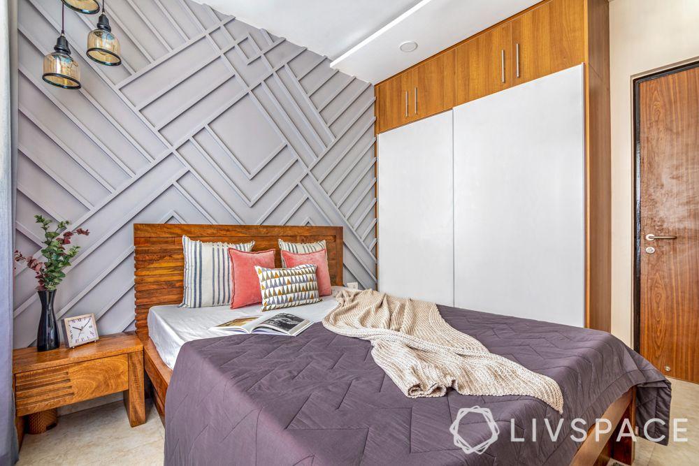 grooved wall-white wardrobe-sliding wardrobe