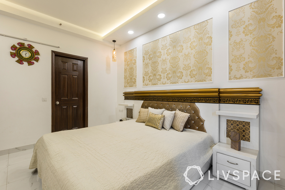 interior designer in greater noida-master bedroom-bed