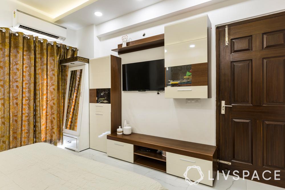 interior designer in greater noida-master bedroom-tv unit-laminate-dresser