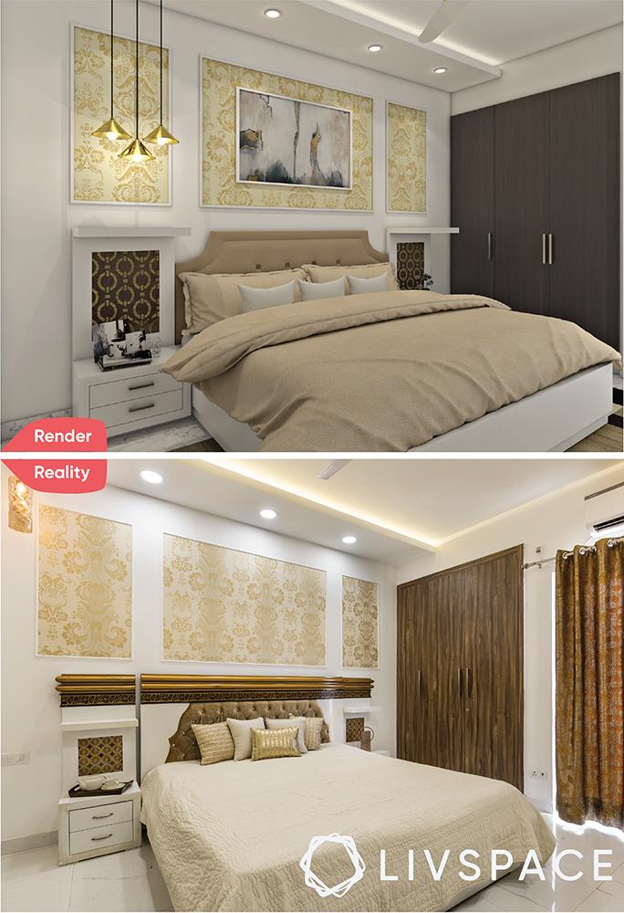 interior designer in greater noida-render-reality-master bedroom