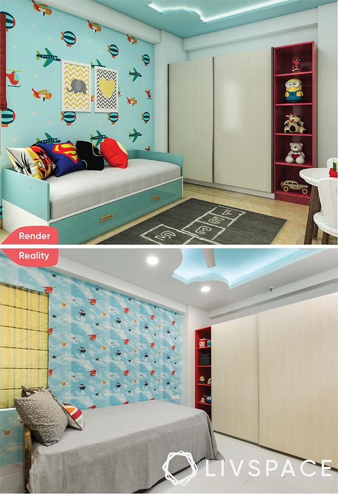 interior designer in greater noida-render-reality-kids bedroom