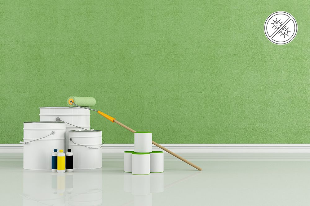 wall paint types-anti microbial paint