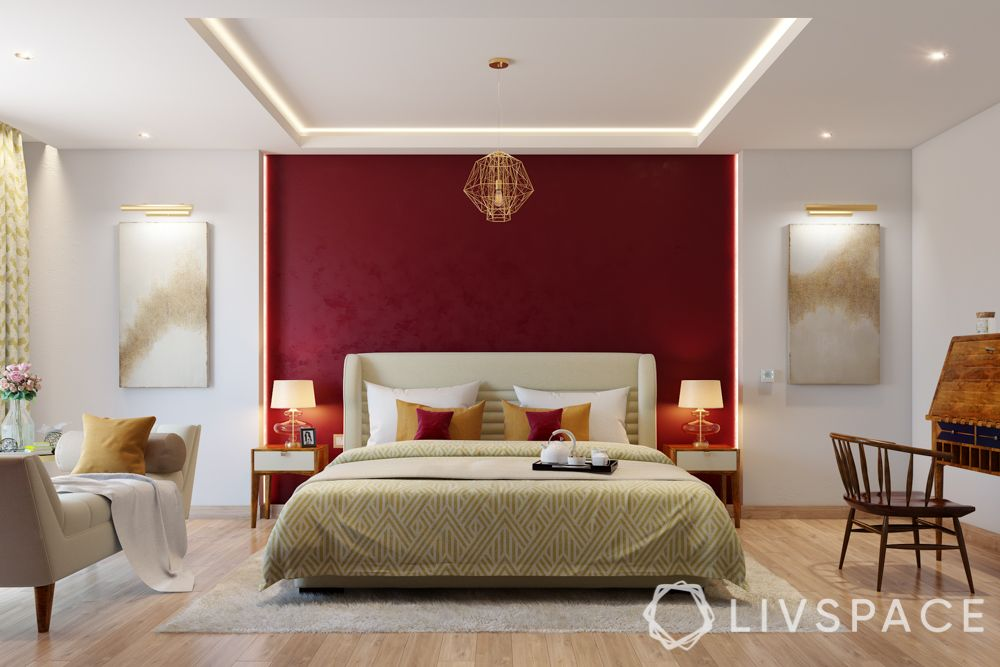red-wall-false-ceiling