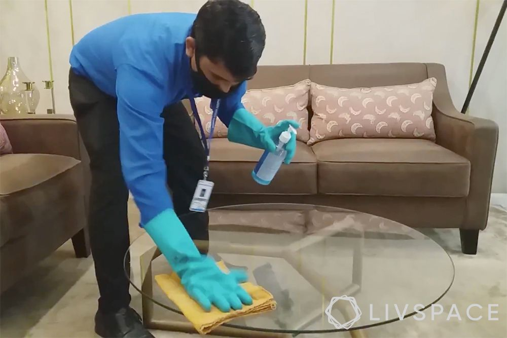 Livspace safe interiors-deep cleaning