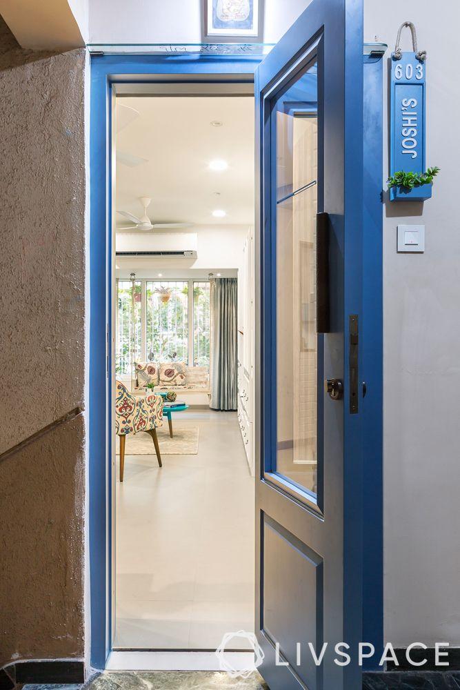 mumbai interior designer-blue door