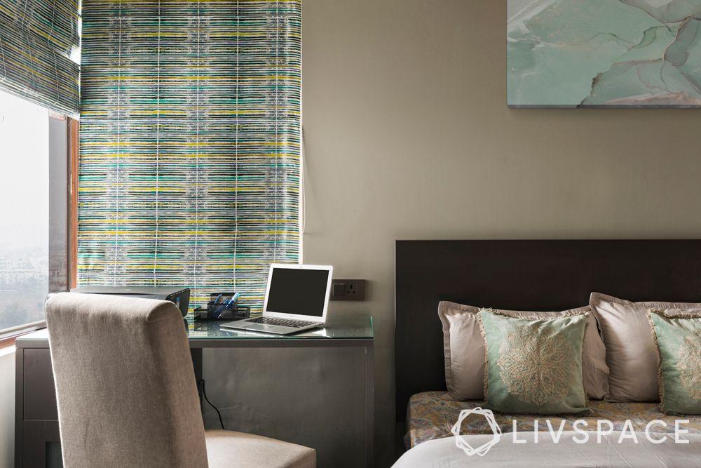 guest-bedroom-study-bed-headboard-grey-wall-chair