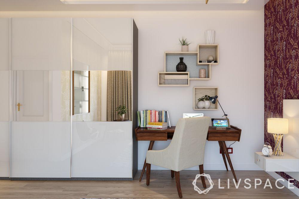 wardrobe-with-mirror-white-study-table-shelves