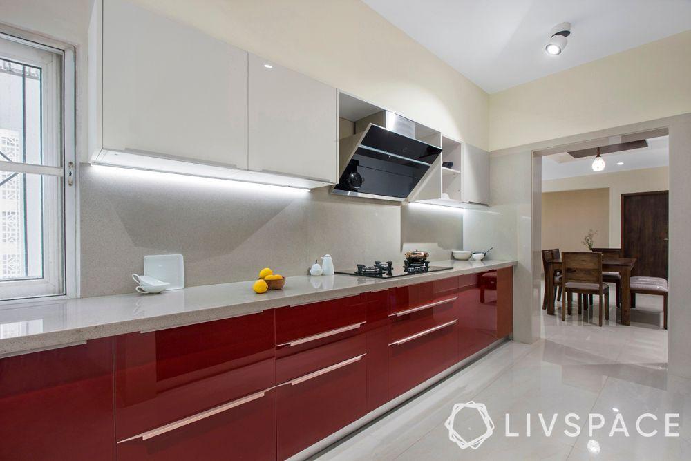 acrylic kitchen-red kitchen