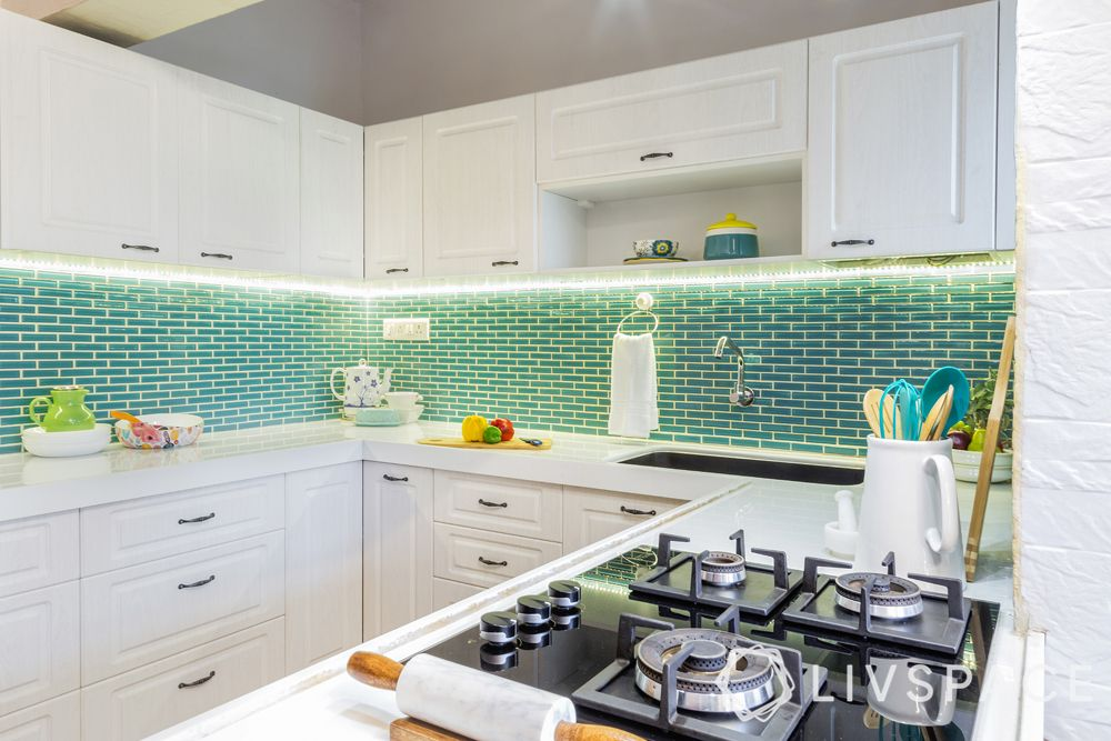 indian kitchen-white kitchen-kitchen cost