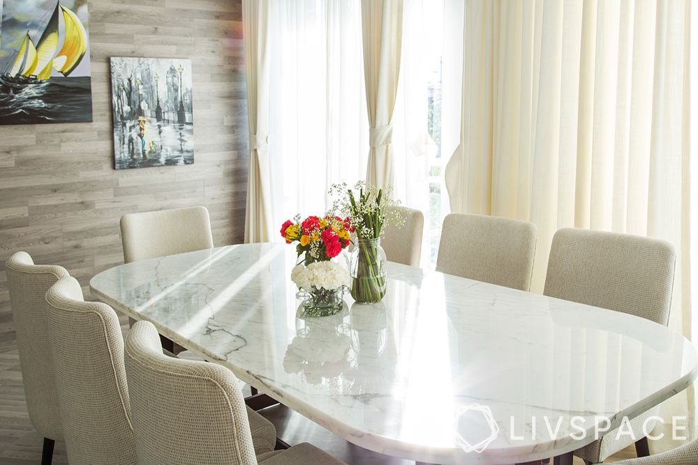 minimalist-decor-white-dining-room-textured-wall