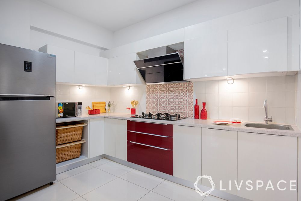minimalist-decor-kitchen-clutter-free-red-white