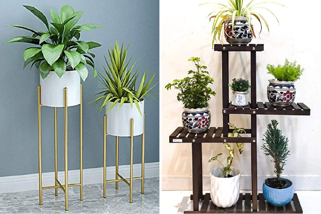 decorating-with-plants-stand-shelves