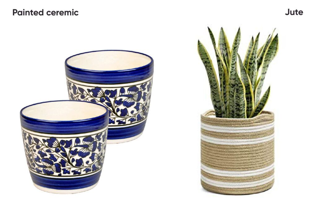 decorating-with-plants-ceramic-pot-jute-planter