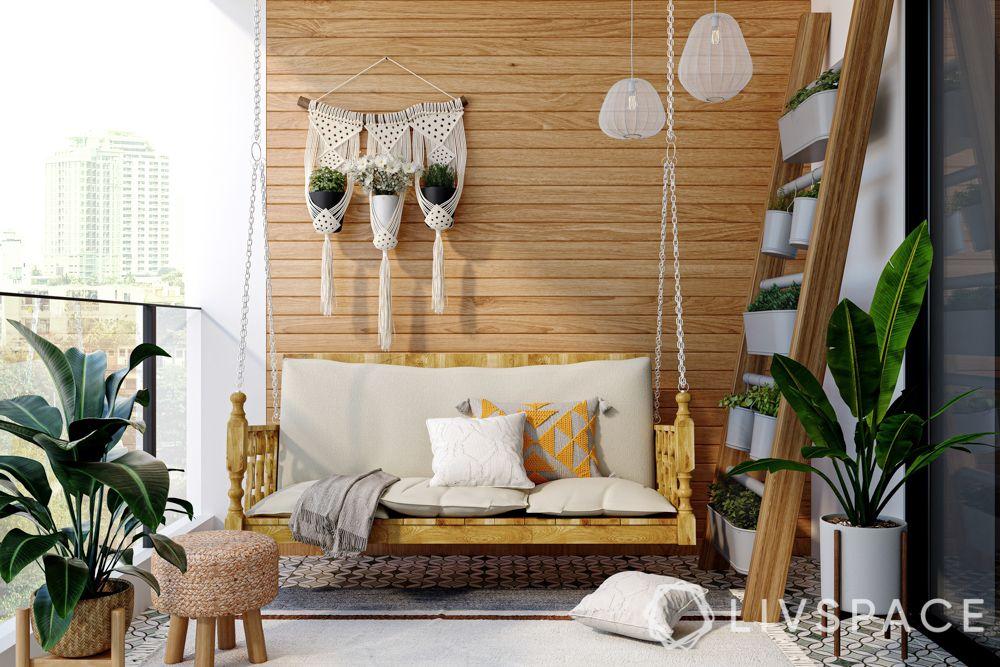wall-hanging-ladder-basket-potted-plant