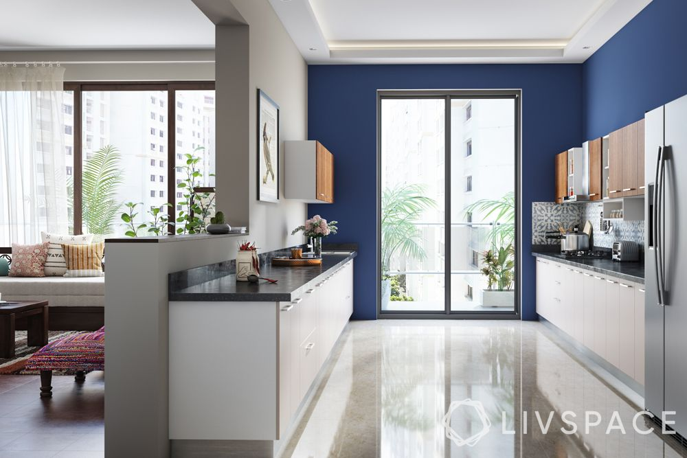kitchen-designs-blue-walls-parallel