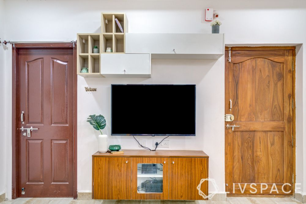 hyderabad interior designer-tv unit design-wall cabinet designs