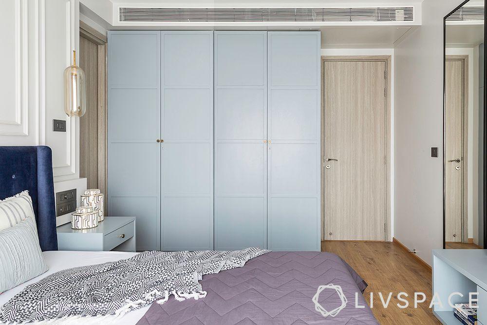 blue wardrobe-batten and board