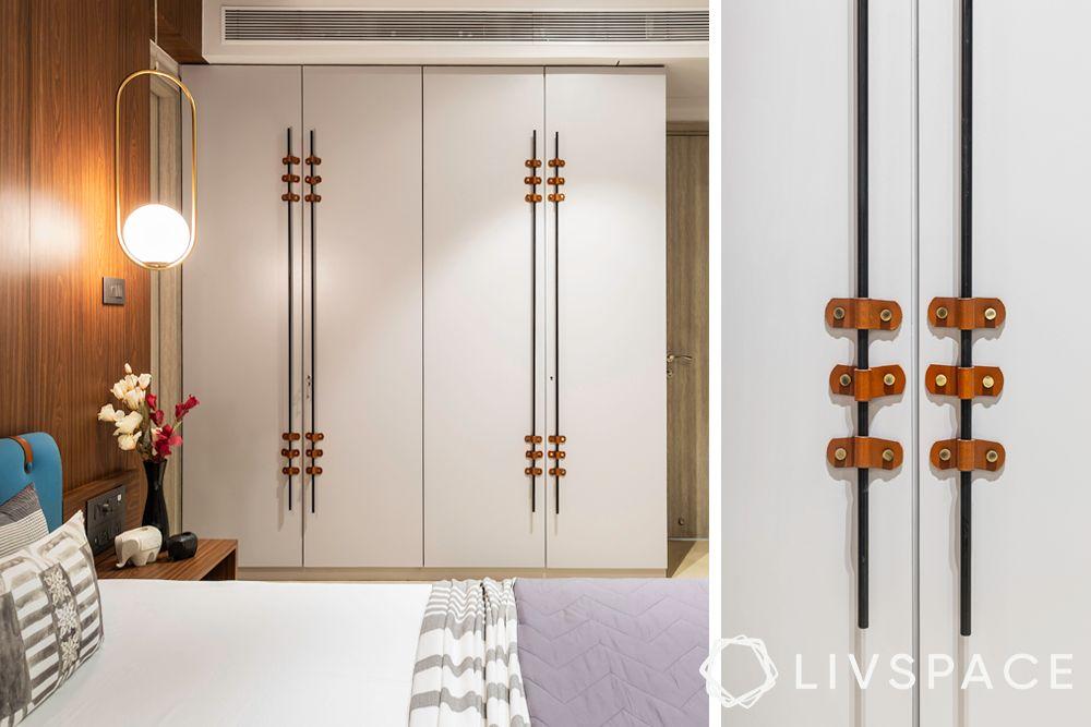 white wardrobe-wardrobe handle designs