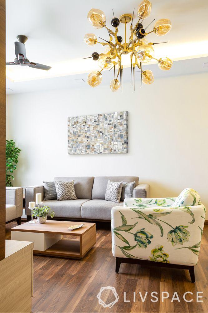 diwali light decoration ideas-living room lighting-chandelier-contemporary