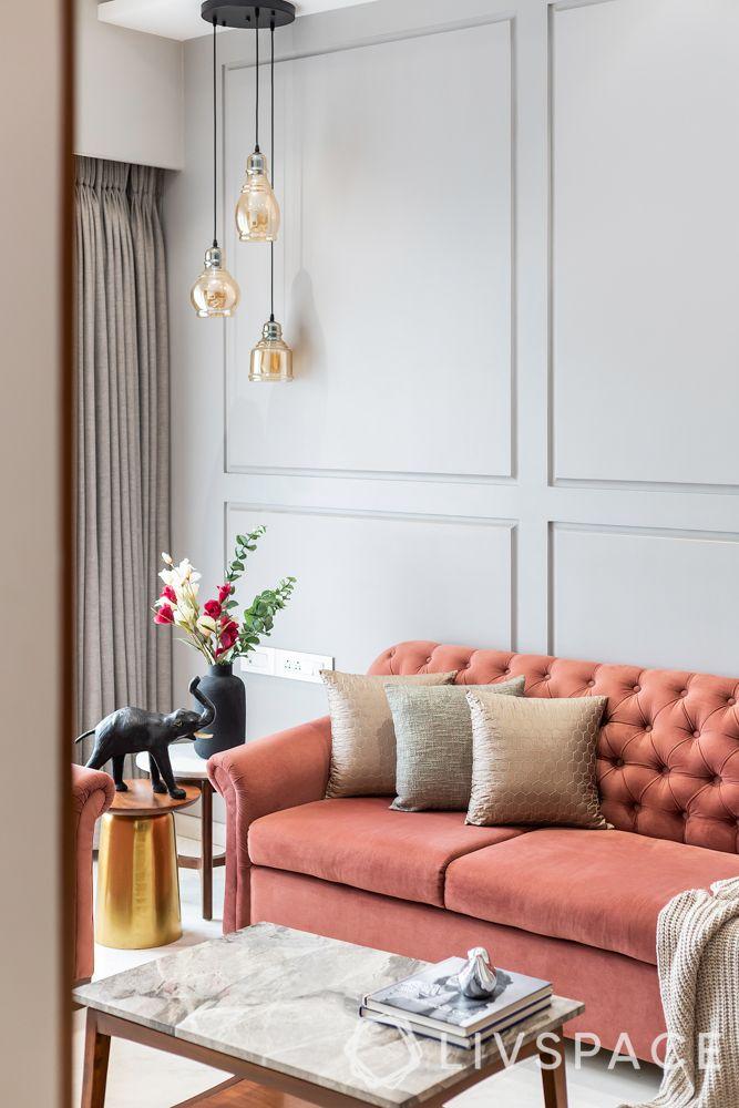 diwali light decoration ideas-living room lighting-pendant lights