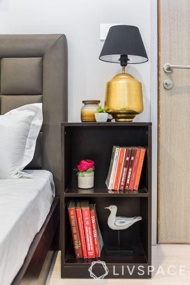 diwali light decoration ideas-bedroom lighting-table lamp-bedside light