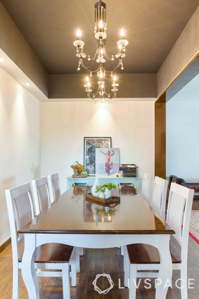 diwali light decoration ideas-chandelier-dining room light