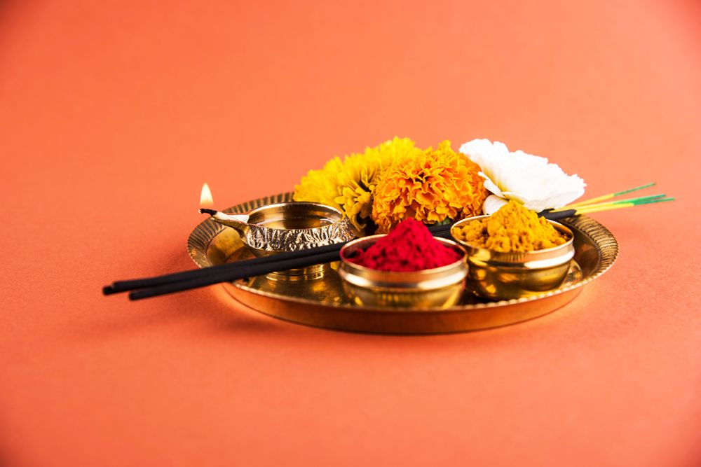 vastu for home-pooja thali-pooja timing