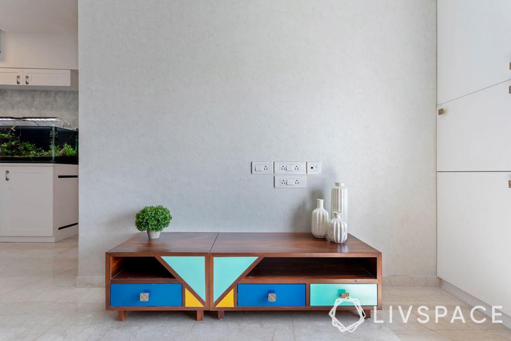 tv unit designs-colourful tv unit