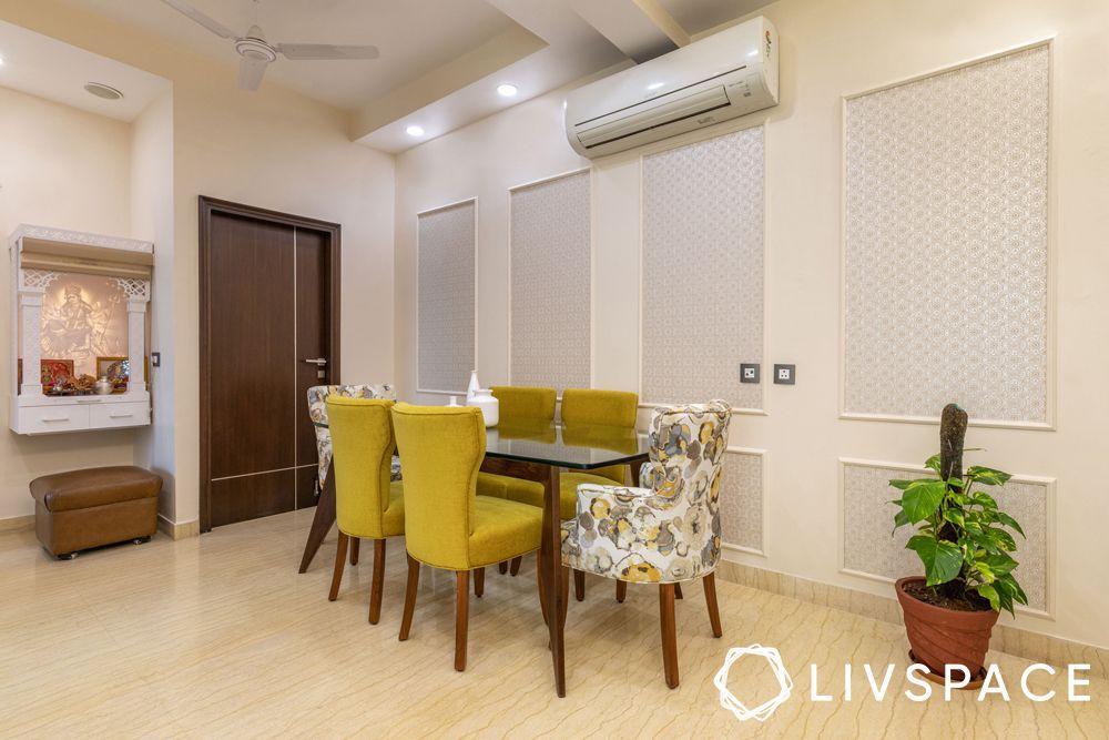3bhk interiors-pooja unit-dining room