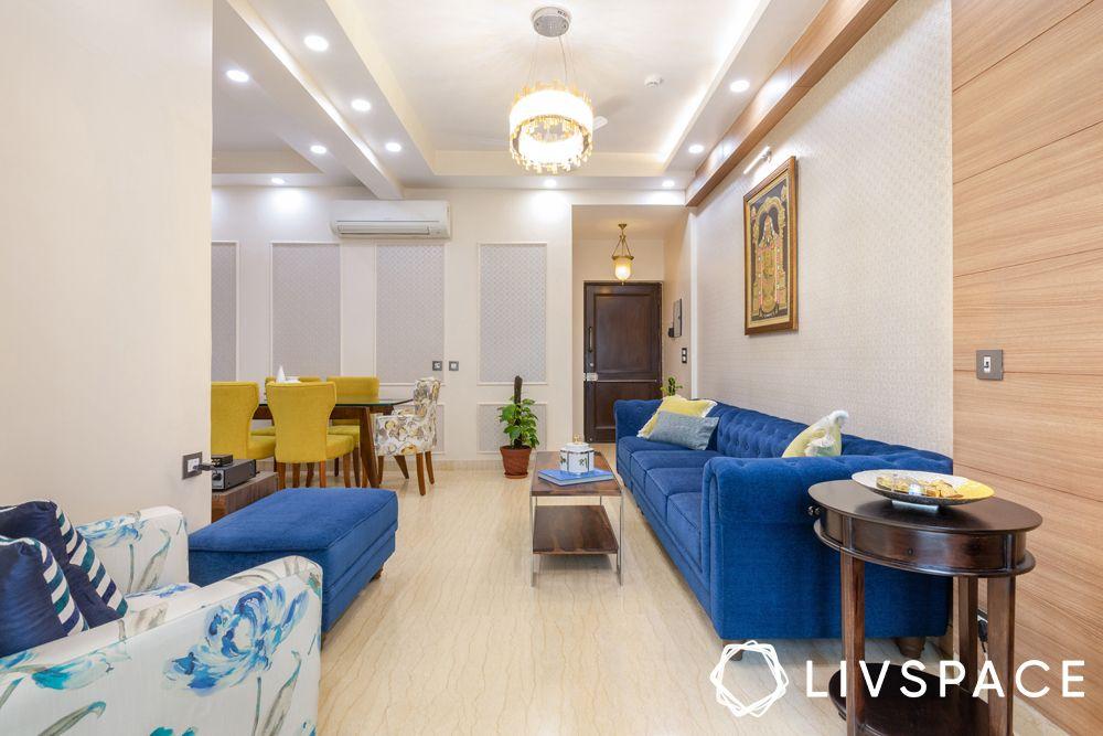 3bhk interiors-modular living room
