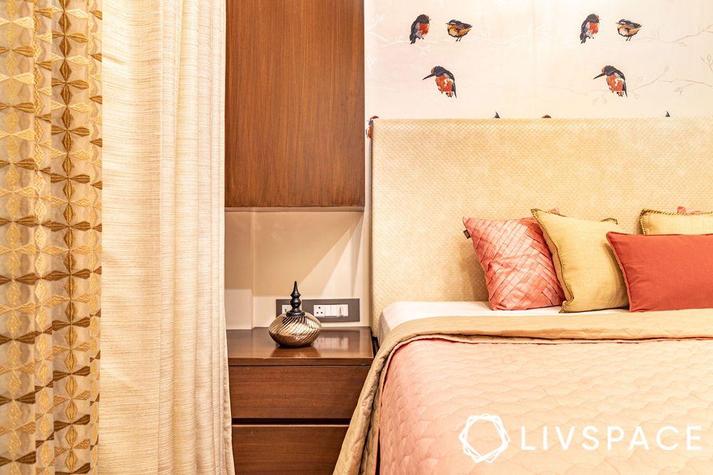 3bhk interiors-wooden storage units