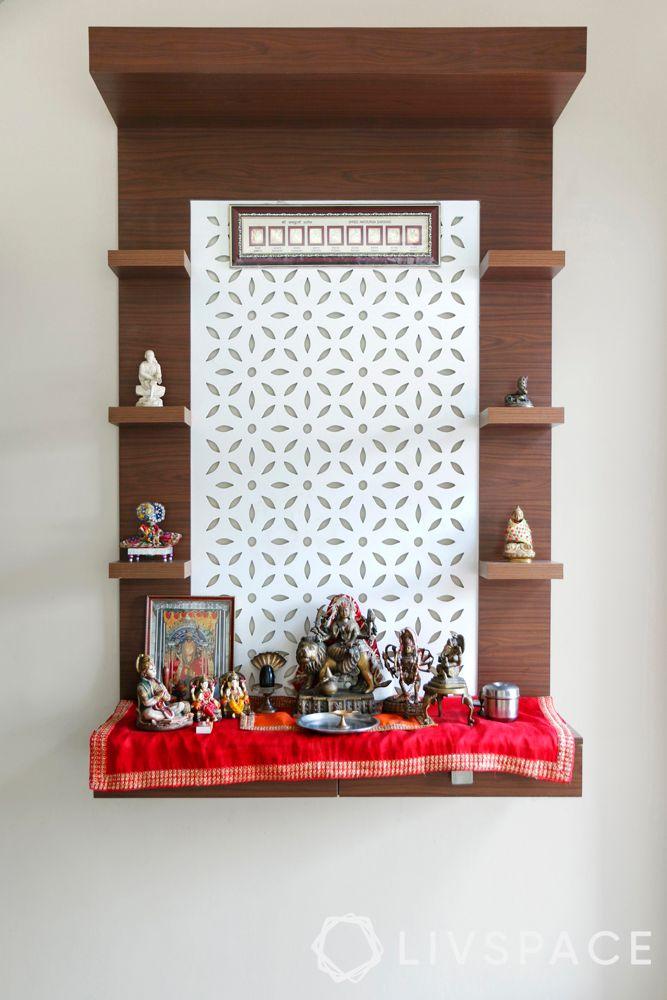 wall mandir design-intricate jaali