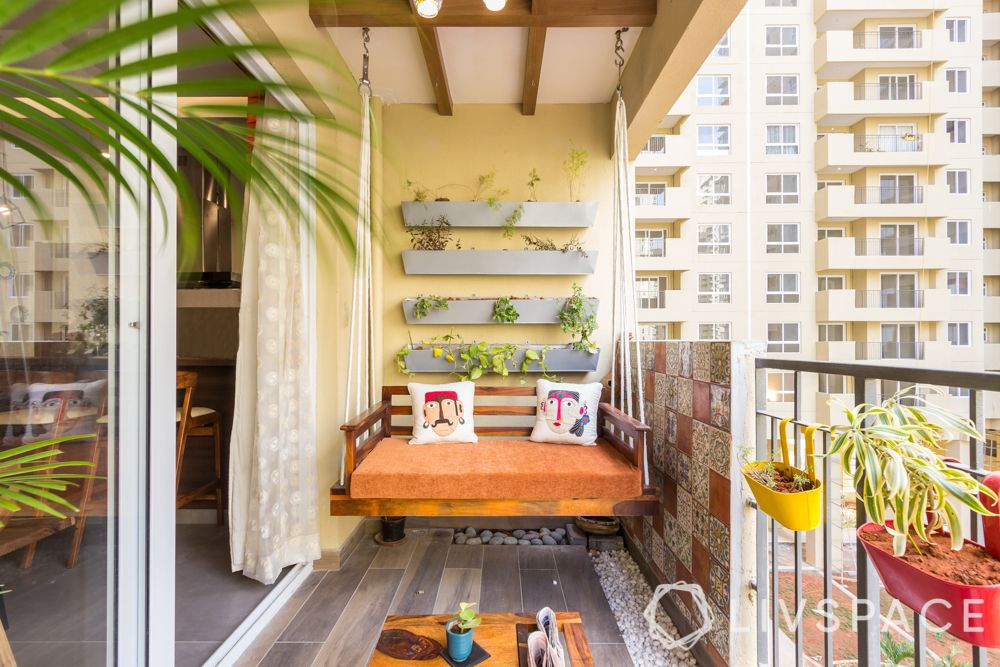 balcony design ideas-balcony swing