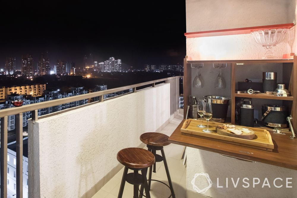 balcony design ideas-contemporary bar