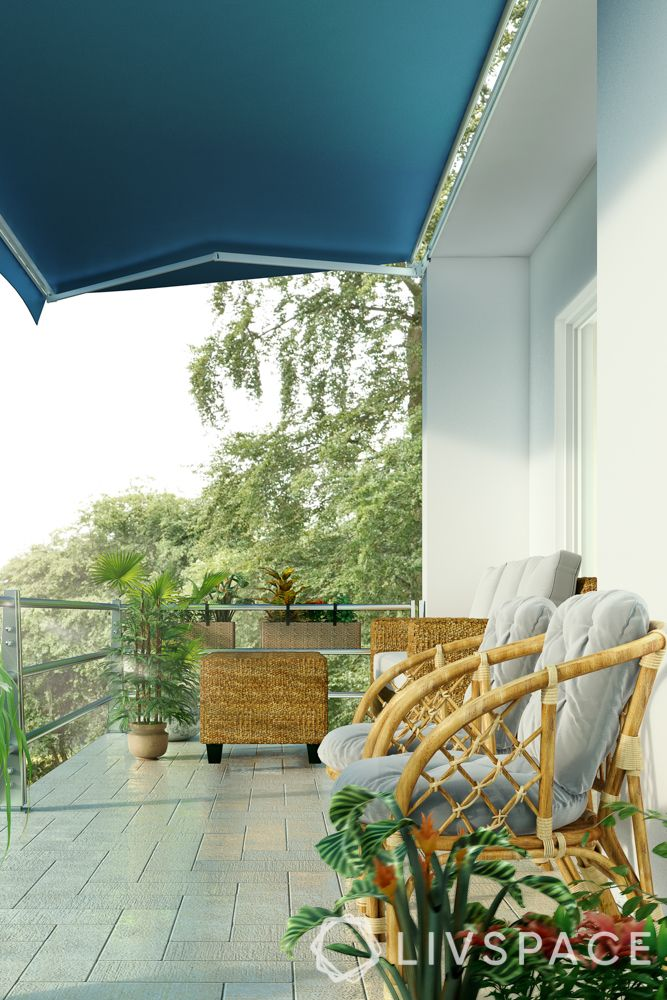 balcony-cane furniture