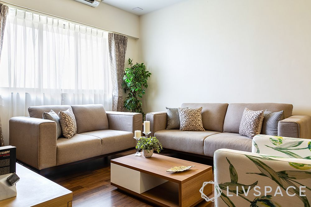 colour for living room-neutral decor-wooden furniture