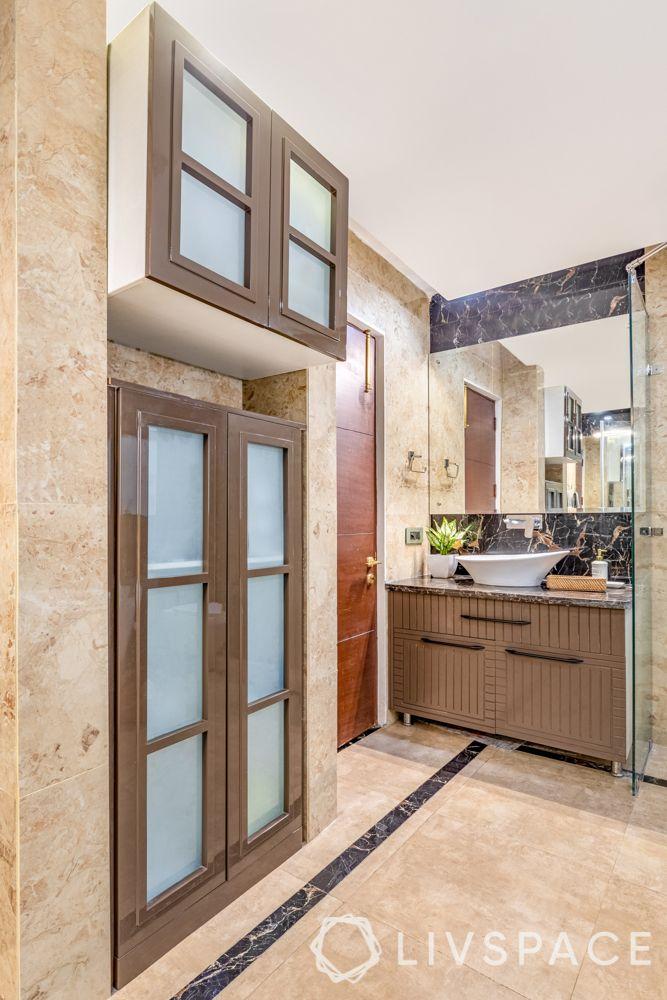 villa interior designer-bathroom vanity-bathroom storage