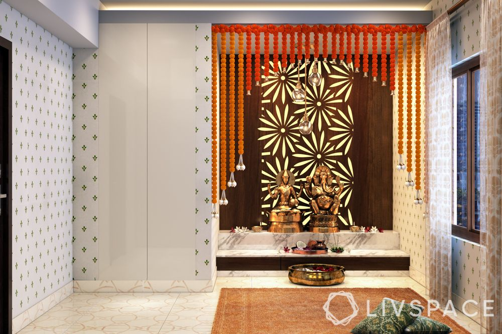 pooja room decoration-diwali decoration for pooja